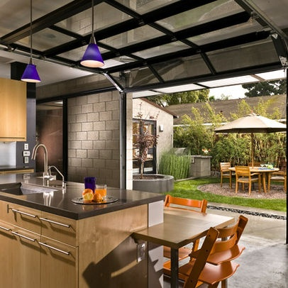 Glass garage door for bar area for the home pinterest