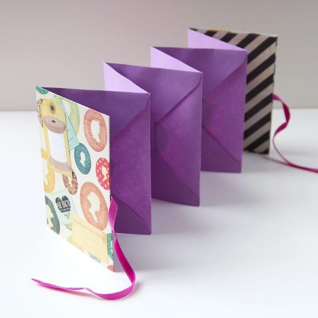Diy Accordion Folding Envelope Mini Album