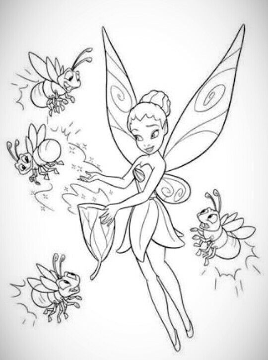 60 best Fairy coloring pages images on Pinterest  Disney fairies