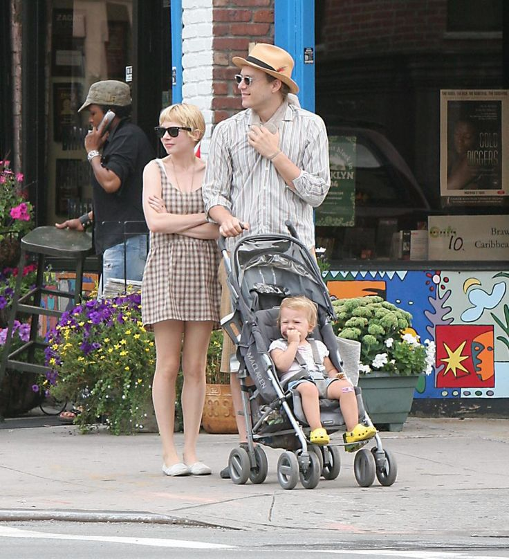 Heath Ledger and Michelle Williams were frequently seen out and about in Brooklyn with daughter Matilda