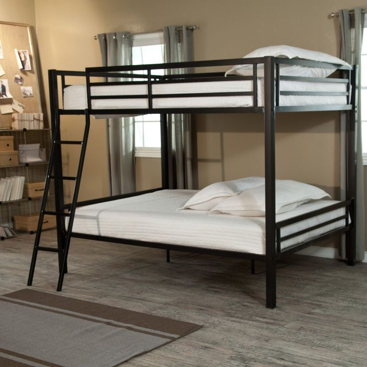 Duro Hanley Full over Full Bunk Bed - Black - You might be spoiling your kids with the Duro Hanley Full over Full Bunk Bed - Black, but we don't think that's a bad thing at all. After all, at the ...