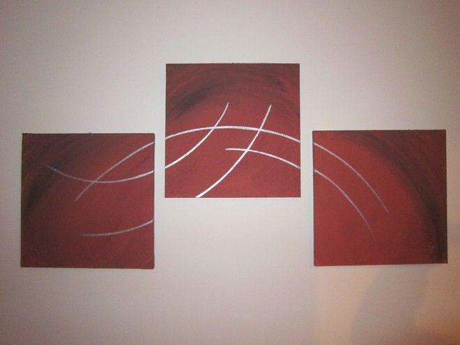 (¯`'•.ASTRATTO.•'´¯) quadro moderno 3 parti,totale 120 cm
