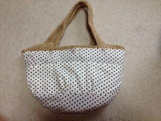 麻ひもバッグの簡単内布の作り方 - 桃色たんぽぽ