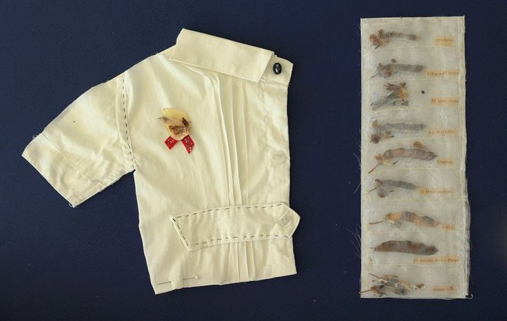 Collage textil. Camisa blanca. www.ale-correa.com