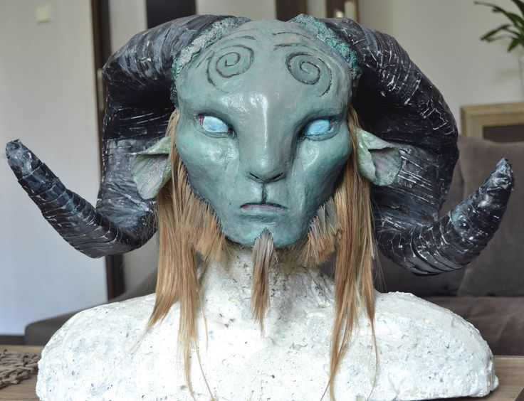 #faun #pans  #labyrith #diy #mask #paper #mache #paper #glue