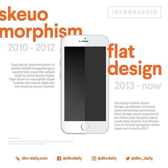 SKEUOMORPHISM DESIGN vs FLAT DESIGN  _ Pada tahun 2013, desain flat muncul dan perlahan membunuh desain skeuomorphism. Bukan cuma itu... Si flat juga merusak makam dan menginjak-injak nisannya!! Gils, braaa   _ Kira-kira apa tren desain selanjutnya?  _ COMING SOON: DKV DAILY V.3.0  www.dkv-daily.com  #dkvdaily #ff6600 #designer #desaingrafis #desaingrafisindonesia #dkv #desainkomunikasivisual #design #graphicdesign #graphicdesigner #bitmap #vector #flatdesign #skeuomorphism #trend…