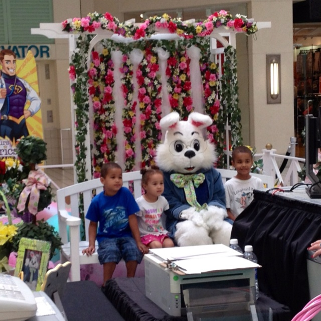 Easter bunny at the mall