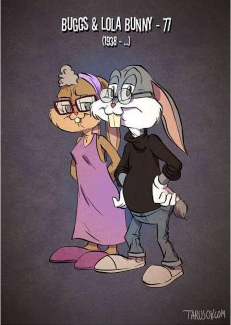 Hình ảnh nhân vật hoạt hình nổi tiếng lúc về già :))