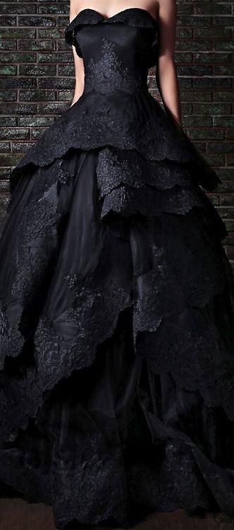 Une mariée en noir