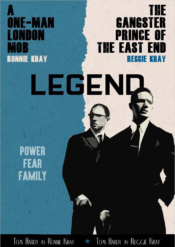 "Legend - ""POWER FEAR FAMILY"" movie poster (digital download) by GangsterFlick.com #GangsterMovie #GangsterFlick"