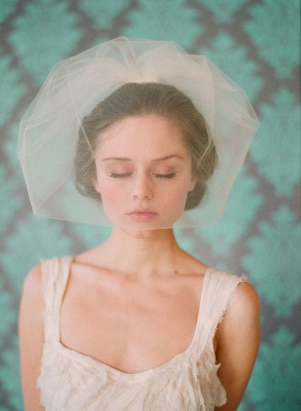 Double layer full tulle birdcage veil - Style #131 - Ready to Ship | Veils | Twigs & Honey ®, LLC