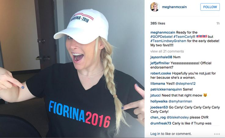 LIB The Kiss of Death?  Meghan McCain Endorses Carly Fiorina, Lindsey Graham