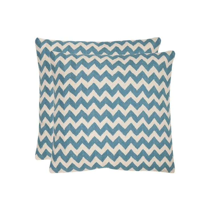 Chevron Tealea 2-piece 22'' x 22'' Throw Pillow Set, Blue