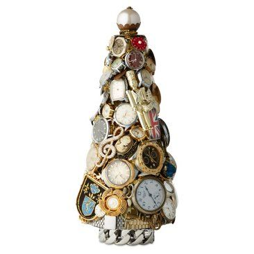 """Check out this item at One Kings Lane! 12"""" Vintage Watch Tree, Gold"""
