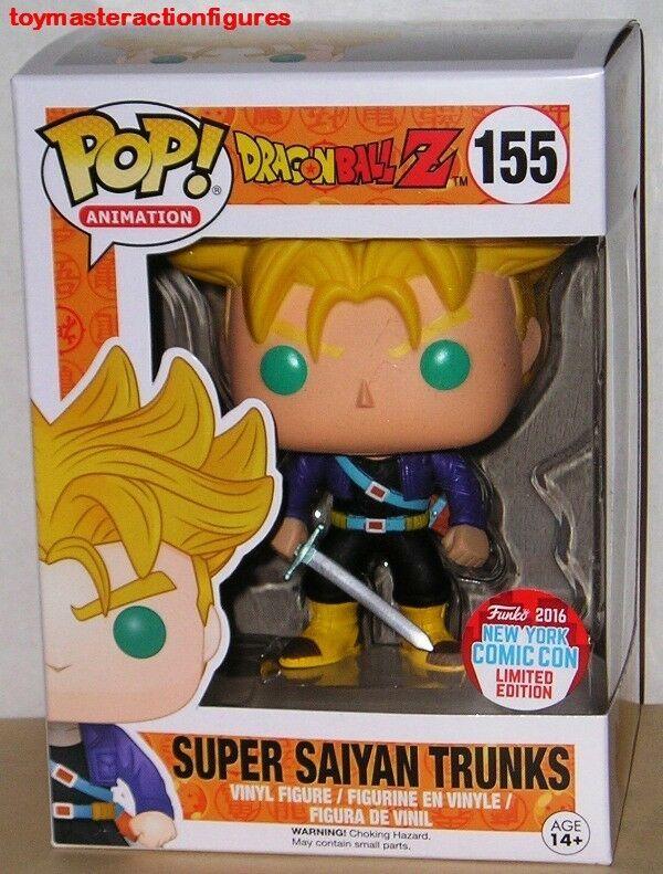 Super Saiyan Trunks Dragon Ball Z NYCC 2016 Exclusive *New *Protector Funko Pop