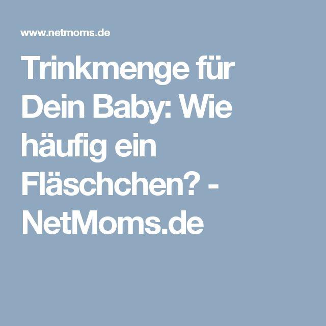 Trinkmenge für Dein Baby: Wie häufig ein Fläschchen? - NetMoms.de