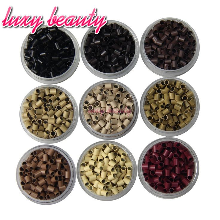 I Tip Micro Copper Rings Beads 3.1X2.7X4.0mm Micro Links Beads 9 Kinds Of Color Can Choose Use For Cold Fusion Hair Extensions
