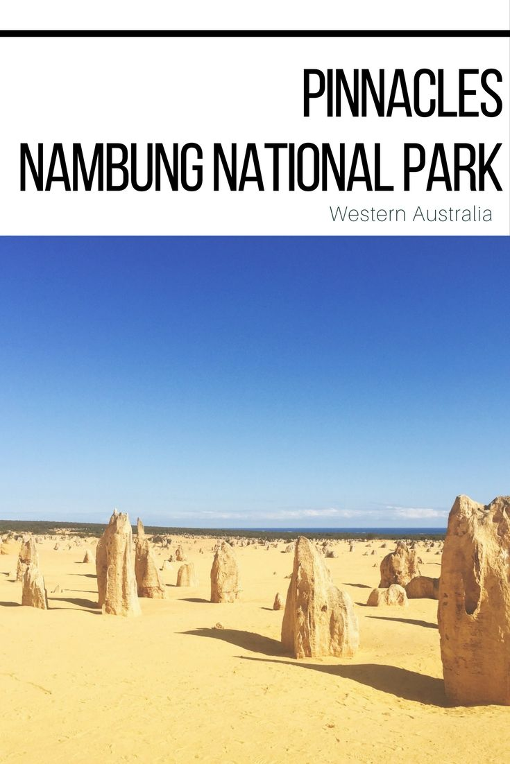The Pinnacles in Nambung National Park are one of the highlights in Western Australia. The pillars are made of chalk and don't really seem to fit in this world.