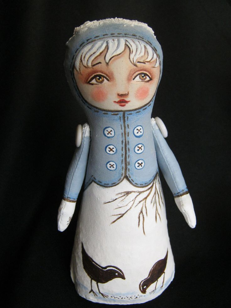 Feed the Birds Stump Doll by Hally Levesque