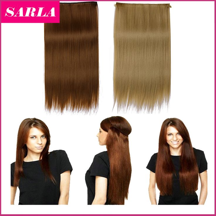 2016 New Hot!!! 22inch 55cm Halo Straight Hair Extensions Hairpiece Hair Pieces Natural Synthetic Halo Hair Extension M02