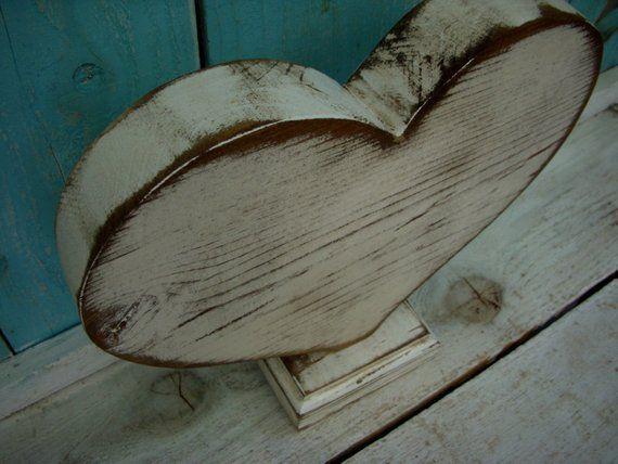 Wooden Heart Wood Heart Large Heart Wood Hearts Wooden Hearts Handmade Heart Shelf Decor Dist Wooden Hearts Wall Shelf Decor Wood