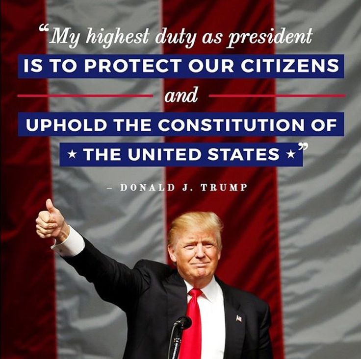 Protect our citizens! Uphold the Constitution! Vote Trump!