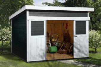 Gerätehaus / Gartenhaus 21 mm Weka Nova Color Gr.2 anthrazit 315x335cm - bei edingershops.de