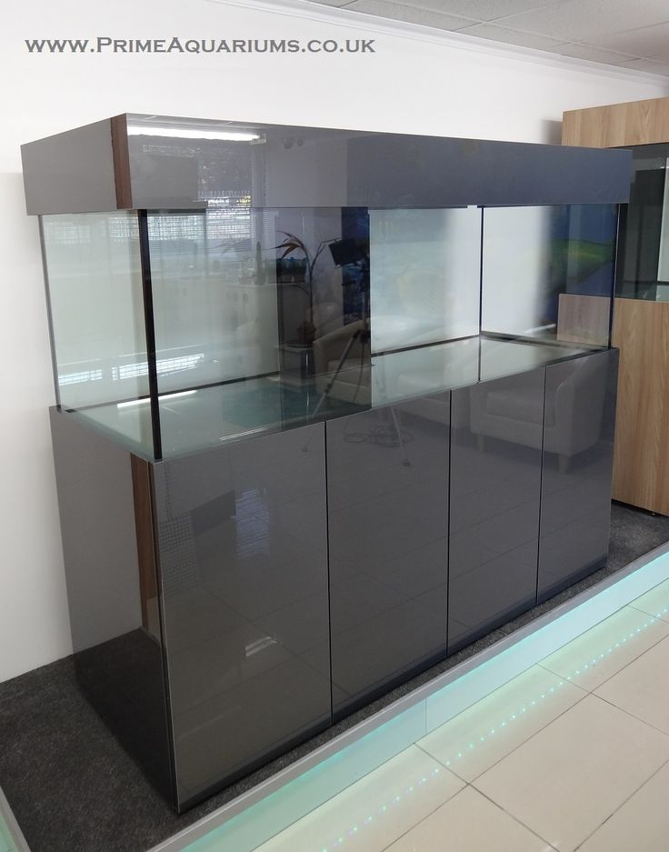 72 lx24 hx24 w standard marine tank with 4 door cabinet for Contemporary fish tank