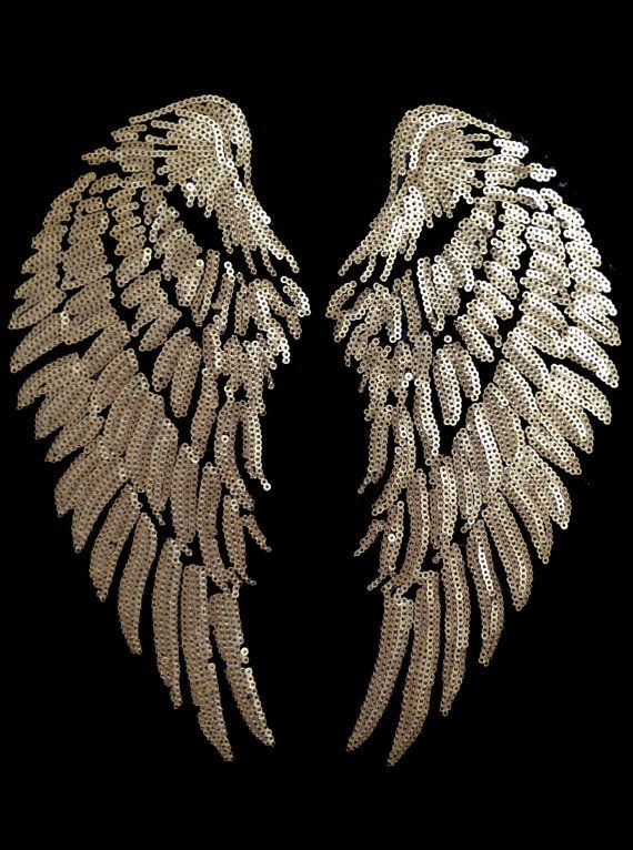 Diy wings heat transfer iron on. Gold wings. Victoria secret pink