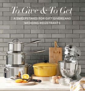 Williams-Sonoma To Give