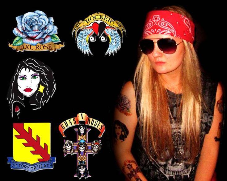 Axl Rose Costume Tattoos | Tattoos Gallery