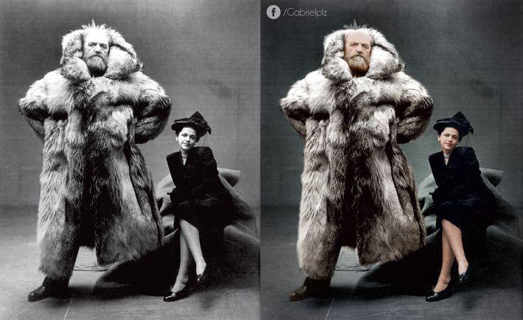 Arctic explorer Peter Freuchen and his wife