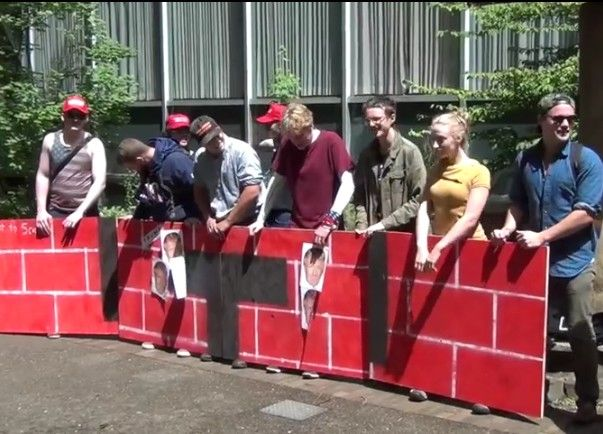 Students for Trump 'wall' at Portland State enrages social justice warriors #BuildtheWall - http://conservativeread.com/students-for-trump-wall-at-portland-state-enrages-social-justice-warriors-buildthewall/