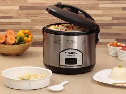 Panela de Arroz Elétrica Mondial 1,8 Litro - Cooker Premium com as melhores condições você encontra no Magazine Siarra. Confira!