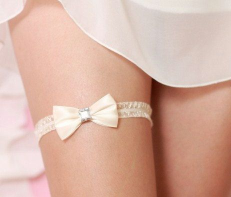 Sweet and Simple  Wedding Garter by TheLittleWhiteDress on Etsy, $14.50