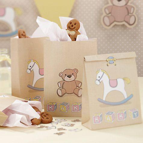 Sachets cadeaux aux invités de la collection Baby Shower Cheval à Bascule, disponibles sur www;mybbshowershop.com