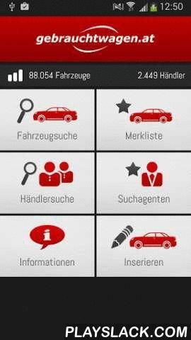 Gebrauchtwagen.at  Android App - playslack.com , Finden Sie Ihr Auto auch unterwegs ganz bequem mit gebrauchtwagen.at.Einfach und schnell aus mehr als 80.000 österreichische Autos von mehr als 2.300 österreichischen Autohändlern und vielen Privatanbietern wählen.Funktionen & Inhalt:• Fahrzeugsuche: Finden Sie Ihr Wunschfahrzeug mit der detaillierten Autosuche nach allen relevanten Kriterien• Händlersuche: Suche nach Autohändlern anhand von Name, Bundesland und Automarken• Inserate: Alle…