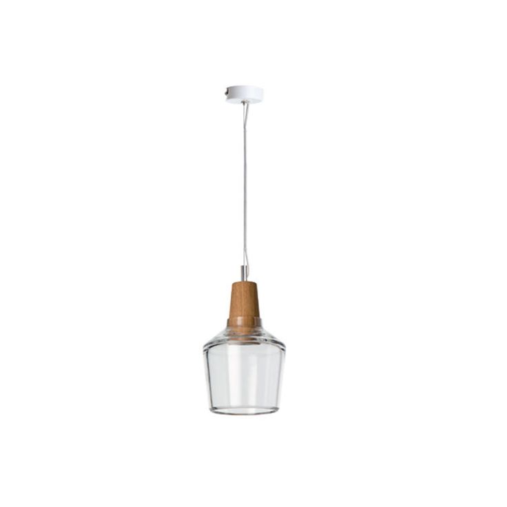 Industrial 15/16P GU10/max 1x6W LED - Crystal glass and wood