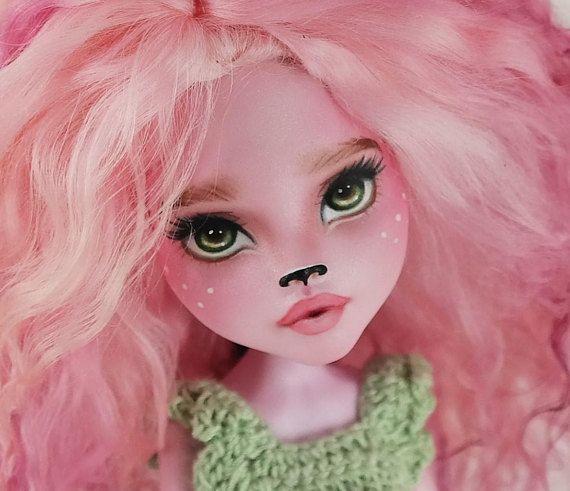 OOAK Custom Deer Girl Monster High Doll Repaint Fawn