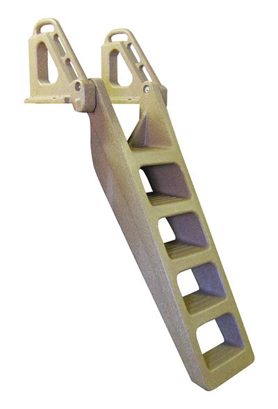 Techstar Plastic Heavy Duty Flip Up 5 Step Dock Ladder