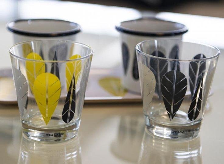 Lehdet juomalasit, Leaves drinking glasses   Muurla