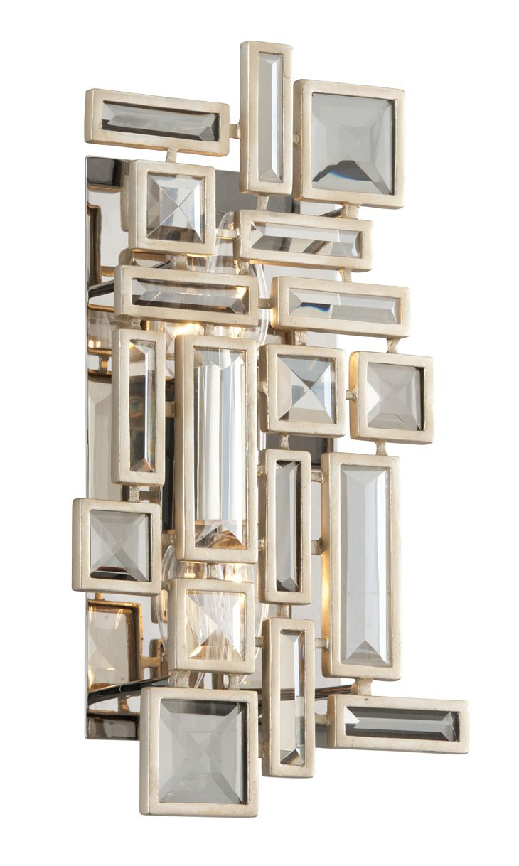 Large Wall Sconces Elements Decoration Method 2-Light Wall Sconce in Tranquility Silver Leaf | decorations | Wall  sconce lighting, Corbett lighting, Sconce lighting