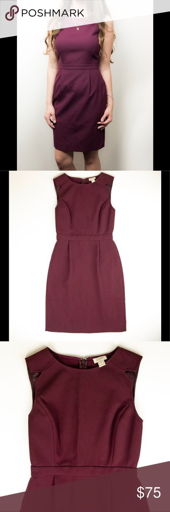 J. Crew Burgundy Dress This dress is perfect for a wedding guest, or a cocktail …