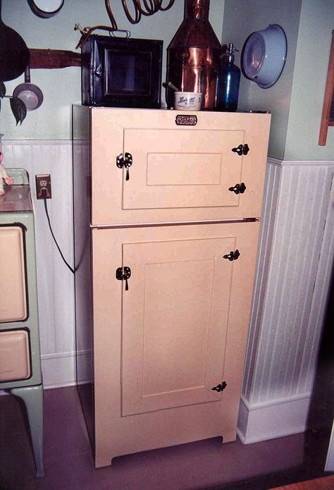 Convert your modern refrigerator to look like an antique icebox!