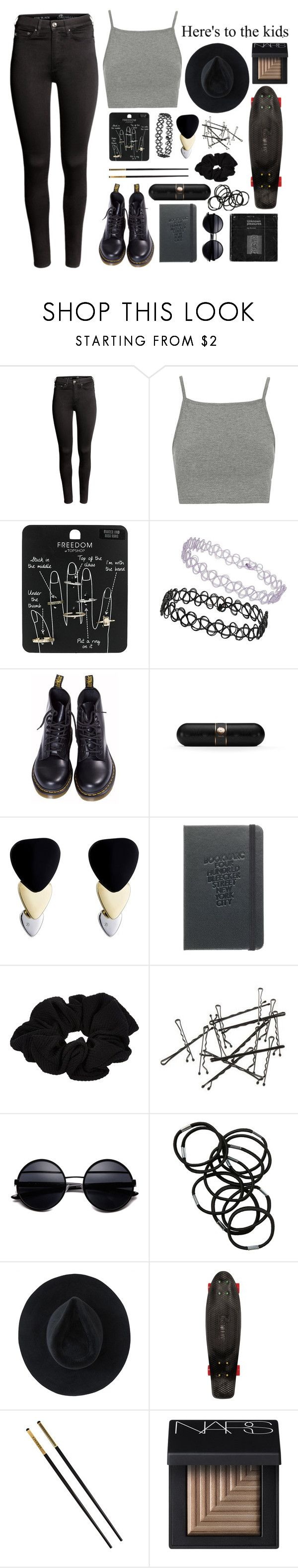 """No Money No Family 16 in the Middle of Miami"" by theyoungestvolcano ❤ liked on Polyvore featuring H&M, Topshop, Dr. Martens, Beats by Dr. Dre, Marc by Marc Jacobs, River Island, Monki, Ryan Roche, Quiksilver and Versace"