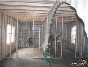 Interior With Arch Cut Between Containers And Bedroom Studs Up. Cargo Container  HomesStorage ...