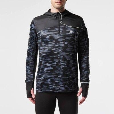 RUNNING Running Running, Trail, Athlétisme - TS ML ELIOKPLAY   noir print KALENJI - Textile running