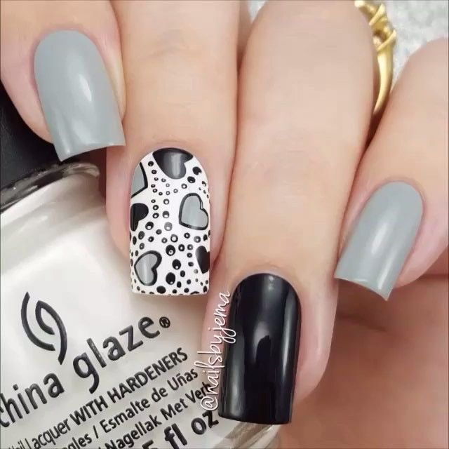 Reverse stamping nails by @nailsbyjema Song: Zayn - Pillowtalk.