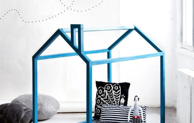You can create a space of his/her own for your child by making them a playhouse.