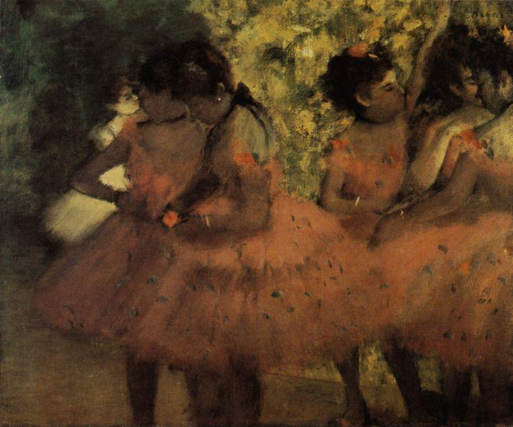 1884 les danseuses roses avant le ballet huile sur. Black Bedroom Furniture Sets. Home Design Ideas